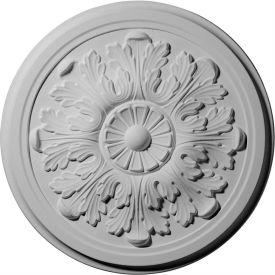 """Ekena Legacy Acanthus Ceiling Medallion CM12LE, 12-3/4""""OD x 7/8""""D"""