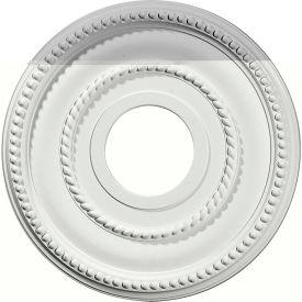 "Ekena Valeriano Ceiling Medallion CM12VA, 12-1/8""OD x 3-5/8""ID x 3/4""D"