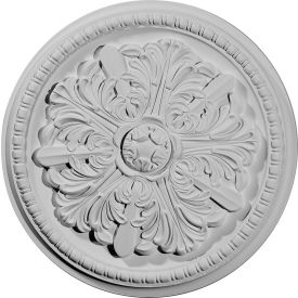 "Ekena Swindon Ceiling Medallion CM16SW, 16-7/8""OD x 1-1/2""D x 3""C"