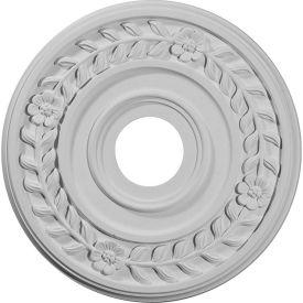 """Ekena Wreath Ceiling Medallion CM16WR, 16-1/4""""OD x 3-5/8""""ID x 1""""D"""