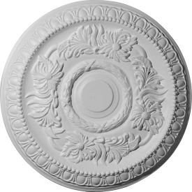 "Ekena Cambridge Ceiling Medallion CM17CA, 17-5/8""OD x 2-7/8""ID x 1-1/8""D"