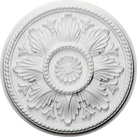 "Ekena Edinburgh Ceiling Medallion CM18ED, 18""OD x 5-1/2""ID x 1-3/4""D"
