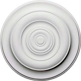 """Ekena Niobe Ceiling Medallion CM18NI, 18""""OD x 2-3/4""""ID x 1-1/2""""D"""