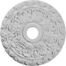 """Ekena Spring Leaf Ceiling Medallion CM19SP, 19-7/8""""OD x 3-5/8""""ID x 1-1/4""""D"""
