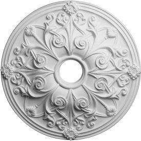 """Ekena Jamie Ceiling Medallion CM23JA, 23-5/8""""OD x 3-7/8""""ID x 2-1/8""""D"""