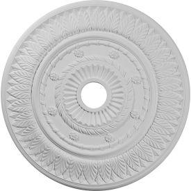 """Ekena Leaf Ceiling Medallion CM26LF, 26-3/4""""OD x 3-5/8""""ID x 1-1/8""""D"""