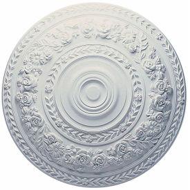 """Ekena Rose Ceiling Medallion CM33RO, 33-7/8""""OD"""