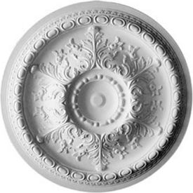 "Ekena Oslo Ceiling Medallion CM38OS, 38-3/8""OD x 2-7/8""D"