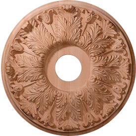 "Ekena Carved Florentine Ceiling Medallion CMW20FLMA, 20""OD x 1-3/4""D"