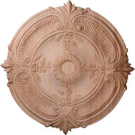 "Ekena Carved Acanthus Leaf Ceiling Medallion CMW24ACRO, 24""OD x 2-1/4""D"