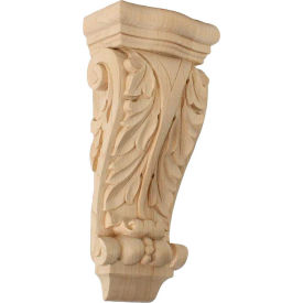 "Ekena Small Farmingdale Acanthus Pilaster Corbel COR04X02X10FR, 4-1/2""W x 2-3/4""D x 10""H"