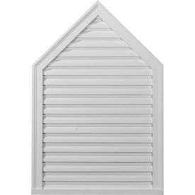 "Ekena Peaked Gable Vent Louver GVPE24X28F, 24""W x 28""H, Functional"