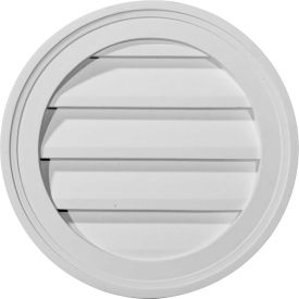 "Ekena Round Gable Vent Louver GVRO24F, 24""W x 24""H, Functional"