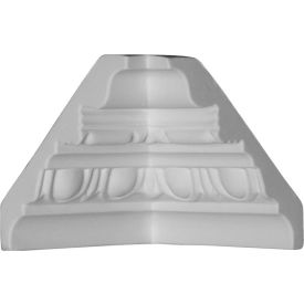 "Ekena Inside Corner For Moulding MLD03X03X05ST MIC03X03ST, 3-3/8""D x 3-5/8""H"