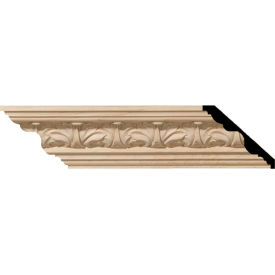 "Ekena Acanthus Leaf Carved Wood Crown Moulding MLD02X02X03ACCH, 2-1/8""H x 2-3/8""D x 3-1/4""F x 96""L"
