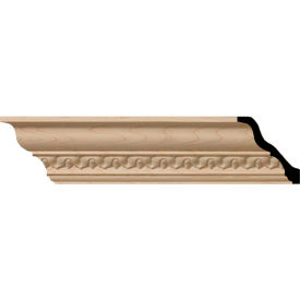 "Ekena Lanarkshire Carved Wood Crown Moulding MLD02X02X03LA, 2-3/8""H x 2-1/4""D x 3-1/4""F x 96""L"