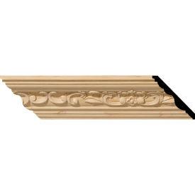 "Ekena Medway Carved Wood Crown Moulding MLD02X02X03MECH, 2-1/4""H x 2-3/8""D x 3-1/4""F x 96""L"
