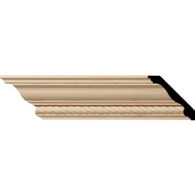 """Ekena Andrea Rope Carved Wood Crown Moulding MLD03X03X05ADCH, 3-1/2""""H x 3-5/8""""D x 5""""F x 96""""L"""