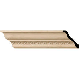 "Ekena Lanarkshire Carved Wood Crown Moulding MLD03X03X05LAAL, 3-5/8""H x 3-1/2""D x 5""F x 96""L"