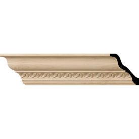 "Ekena Lanarkshire Carved Wood Crown Moulding MLD03X03X05LACH, 3-5/8""H x 3-1/2""D x 5""F x 96""L"