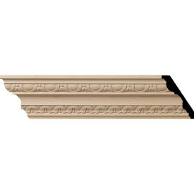 "Ekena Bedford Carved Wood Crown Moulding MLD04X02X05BE, 4""H x 2-7/8""D x 5""F x 96""L"