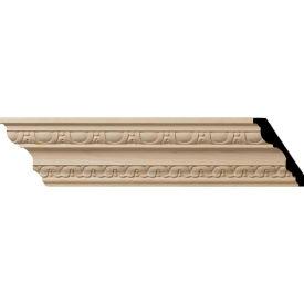 "Ekena Bedford Carved Wood Crown Moulding MLD04X02X05BEMA, 4""H x 2-7/8""D x 5""F x 96""L"