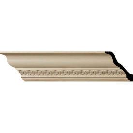 "Ekena Lanarkshire Carved Wood Crown Moulding MLD04X04X06LAMA, 4-7/8""H x 4-3/4""D x 6-3/4""F x 96""L"