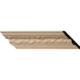 "Ekena Medway Carved Wood Crown Moulding MLD04X04X06MECH, 4-3/4""H x 4-7/8""D x 6-3/4""F x 96""L"