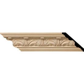 "Ekena Acanthus Leaf Carved Wood Crown Moulding MLD04X05X06ACAL, 4-1/2""H x 5""D x 6-3/4""F x 96""L"