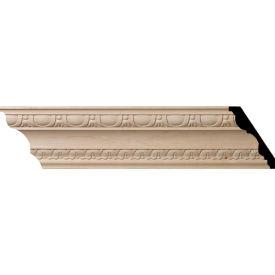 "Ekena Bedford Carved Wood Crown Moulding MLD05X04X06BEMA, 5-1/2""H x 4""D x 6-3/4""F x 96""L"