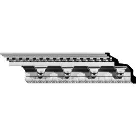 """Ekena Rosetta Crown Moulding MLD08X09X12RO, 9""""H x 9""""D x 12-1/2""""F x 94-1/2""""L"""