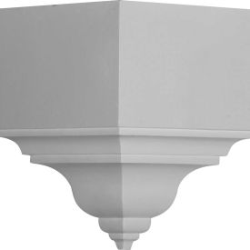 "Ekena Outside Corner For Moulding Profiles MOC05X06BI, 5-1/2""D x 13-3/4""HP And 6-3/4""H"