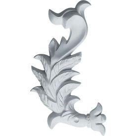 "Ekena Needham Flowing Leaves Onlay ONL03X06X01NE-L, 3-7/8""W x 6-3/4""H x 3/4""D"