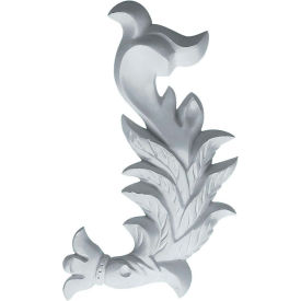 "Ekena Needham Flowing Leaves Onlay ONL03X06X01NE-R, 3-7/8""W x 6-3/4""H x 3/4""D"