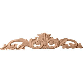 "Ekena Medium Green Leaf Center W/Scrolls ONL24X05X01LFMA, 24-3/4""W x 5-1/8""H x 3/4""D"