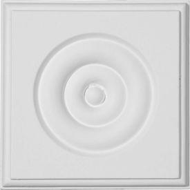 "Ekena Waltz Bullseye Plinth Block PB04X04X01WA, 4-3/4""W x 4-3/4""H x 1-1/8""D"