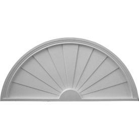 """Ekena Half Round Sunburst Pediment PED48X24X02SB, 48""""W x 24""""H x 2""""D"""