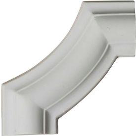 """Ekena Ashford Smooth Panel Moulding Corner PML04X04AS, 4""""W x 4""""H x 1/2""""D"""