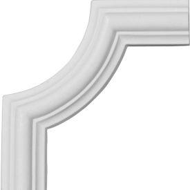 "Ekena Bradford Smooth Panel Moulding Corner PML04X05BR, 4-1/8""H x 4-1/8""W"