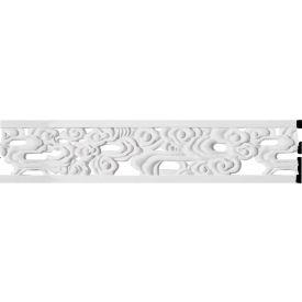 "Ekena Flower Pierced Panel Moulding PML07X01FL, 7""H x 5/8""D x 94-1/2""L"