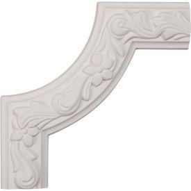 """Ekena Sussex Floral Panel Moulding Corner PML08X08SU, 8""""W x 8""""H x 1-7/8""""D"""
