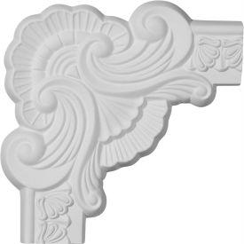 "Ekena Acanthus Leaf Panel Moulding Corner PML09X09AC, 9-3/8""W x 9-3/8""H"