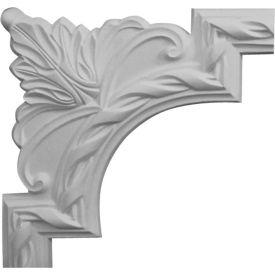 "Ekena Valeriano French Ribbon Panel Moulding Corner PML09X09VA, 9-3/8""W x 9-3/8""H"