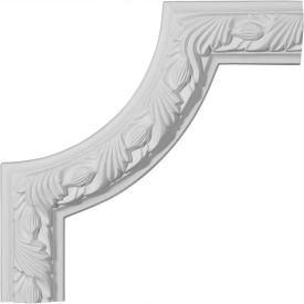 "Ekena Milton Running Leaf Panel Moulding Corner PML10X10MI, 10""W x 10""H"
