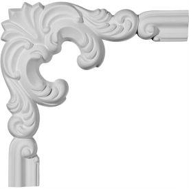 "Ekena Seville Panel Moulding Corner PML10X10SE-1, 10""W x 10""H x 1-1/8""D"