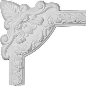 "Ekena Sussex Floral Panel Moulding Corner PML10X10SU, 10-3/4""W x 10-3/4""H"