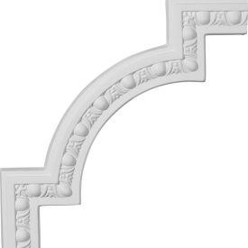 "Ekena Raymond Egg & Dart Panel Moulding Corner PML12X12RA, 12-7/8""W x 12-7/8""H"