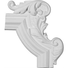 "Ekena Pompeii Panel Moulding Corner PML13X10PM-R, 13-1/4""W x 10-5/8""H x 1-1/8""D"