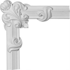 "Ekena Edinburgh Panel Moulding Corner PML16X16ED, 16-1/4""W x 16-1/4""H"