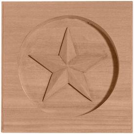 "Ekena Austin Star Rosette ROS03X03AU, 3-1/2""W x 3-1/2""H x 5/8""D"